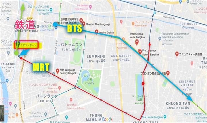 フアランポーン駅地図